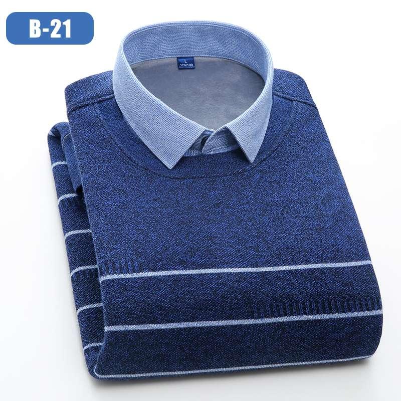 男装保暖衬衫男复合真超时尚保暖衬衫男加厚保暖衬衫