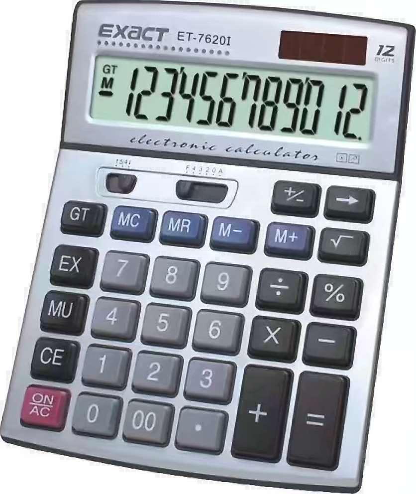 伊若特ET-7620I太阳能财务银行会计大屏显示12位数字电脑按键计算器