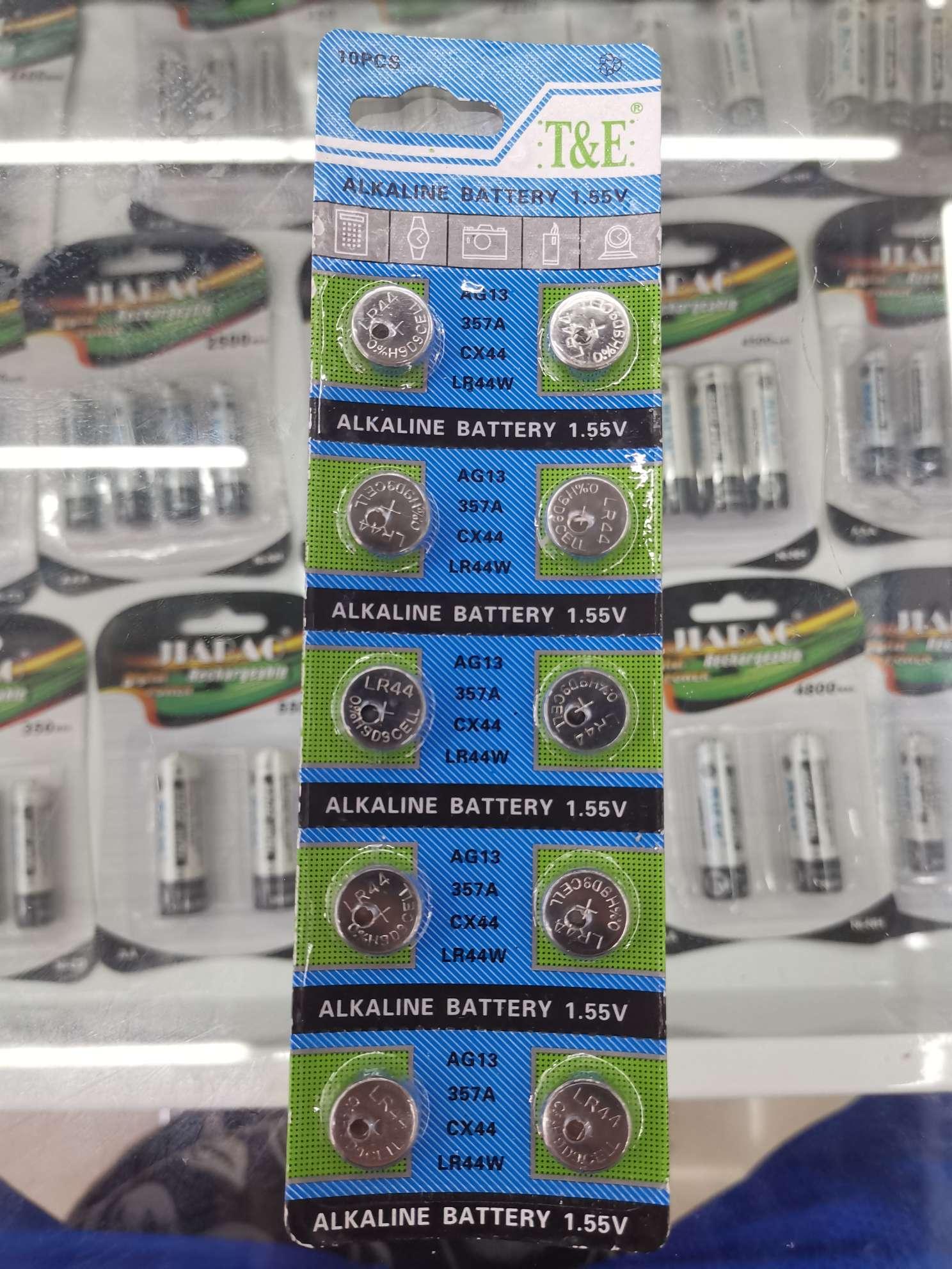 T&E纽扣电池357A/AG13/LR44W