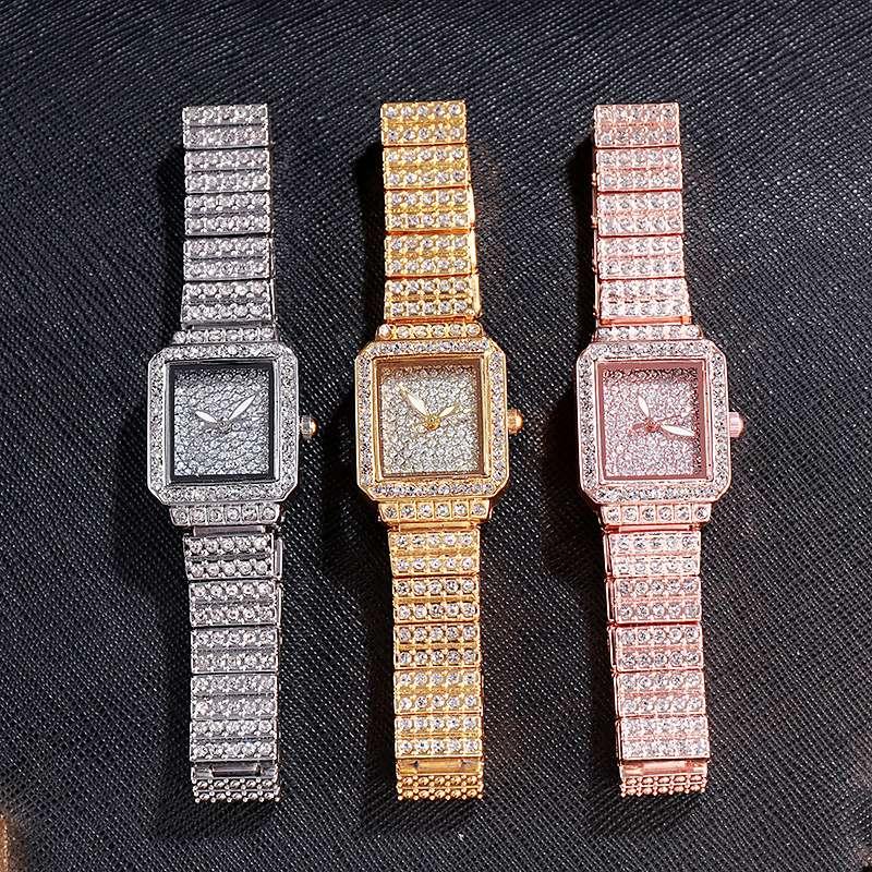 满天星镶钻手链方形手表女士礼品表表饰品表18820