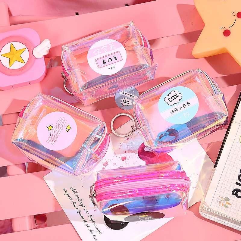 新款韩版镭射网红小包包女学生小清新可爱手拿迷你零钱包厂家批发
