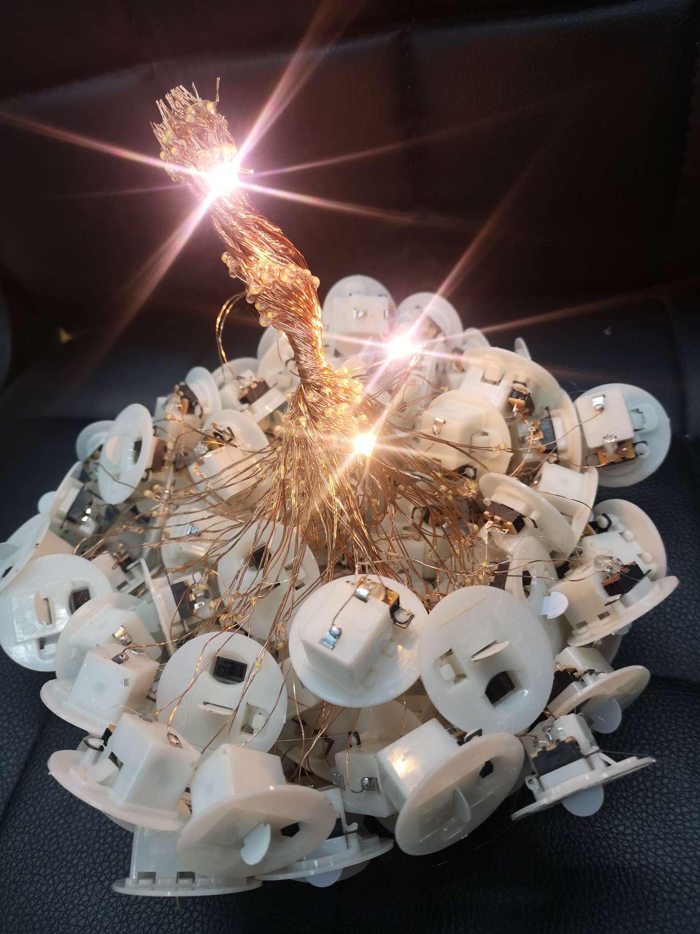 发光电子底座工艺品发光电子底座,玩具发光配件