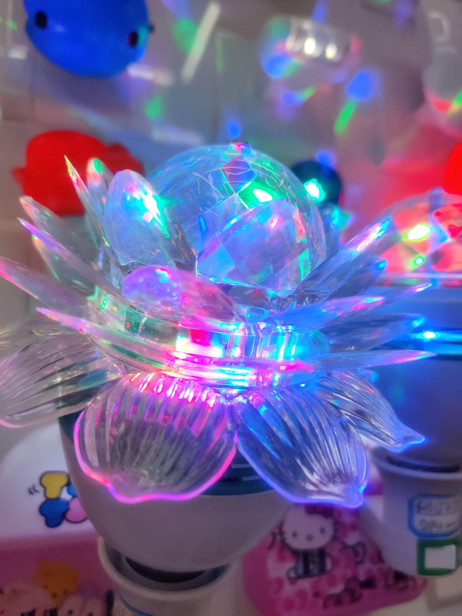 炫彩莲花菠萝魔球灯舞台舞会灯E27螺口莲花灯菠萝灯
