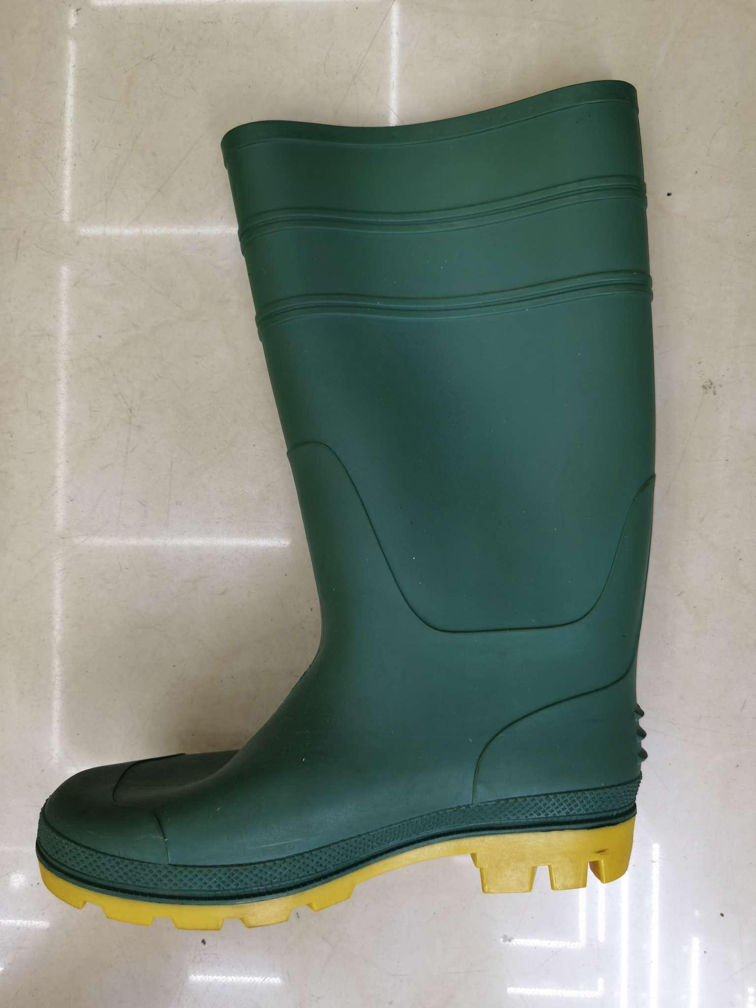 绿面黄底雨鞋