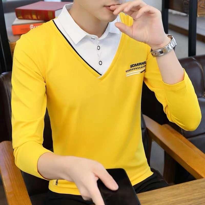 青少年时尚翻领长袖polo衫6625#。