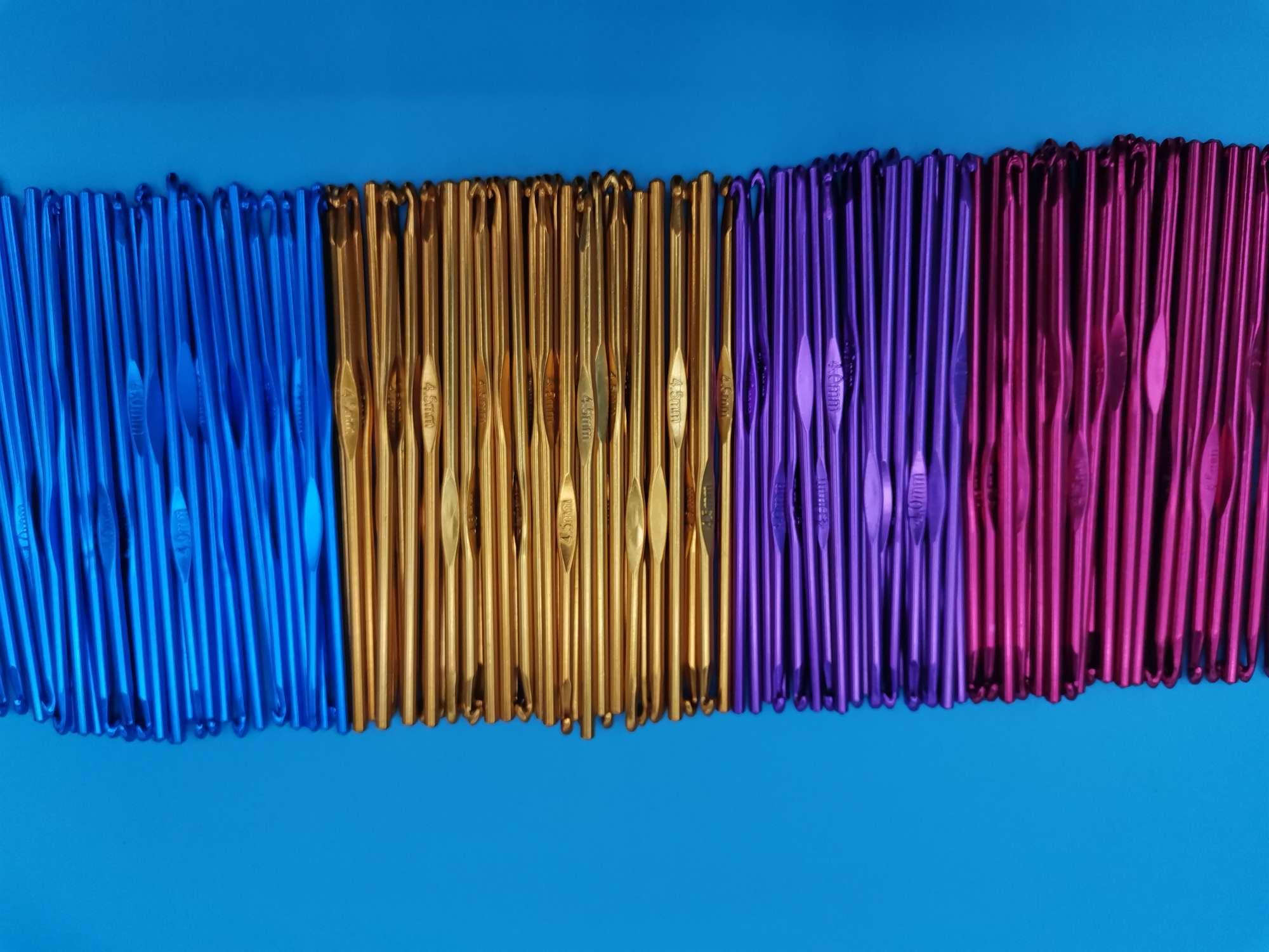 编织工具彩色铝钩针(2.0mm--10.0mm)