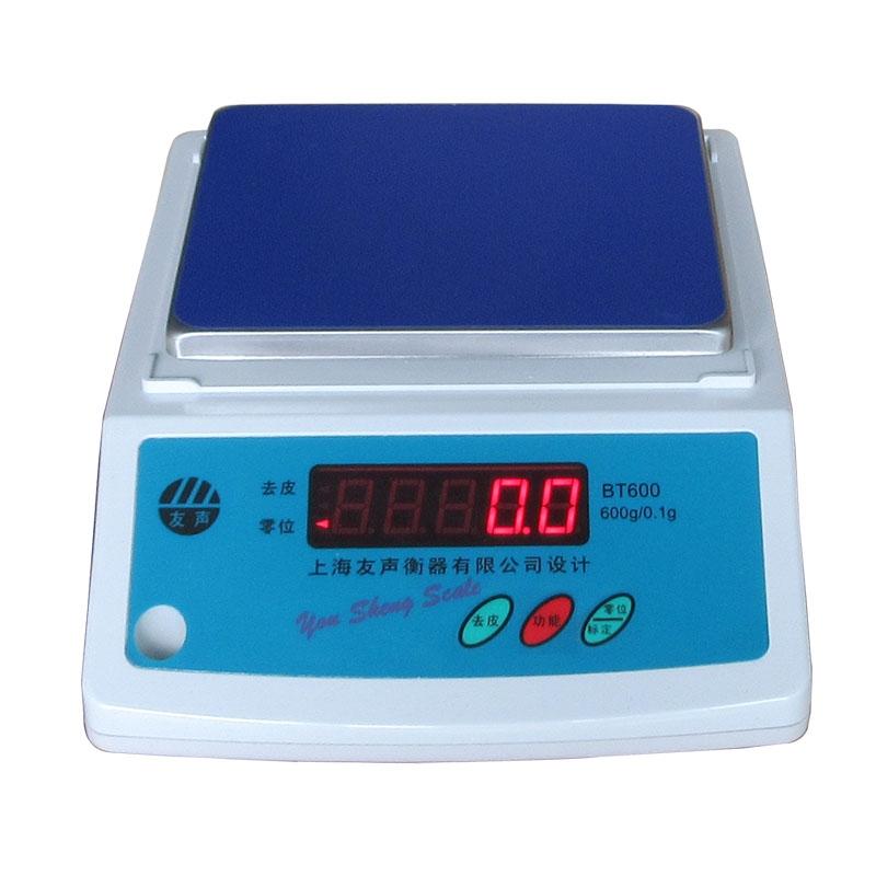 友声电子天平充电电子秤红字电子秤1500g/0.1g