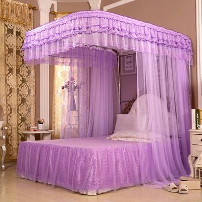 紫色蚊帐方形