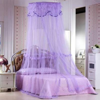 紫色公主风浪漫淡紫蚊帐