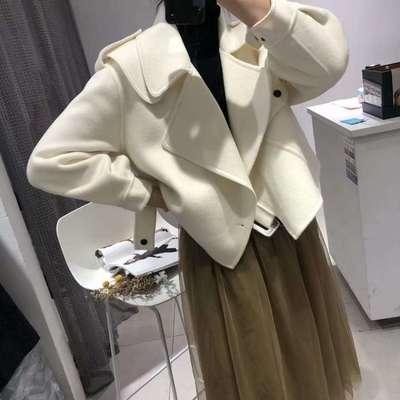2020秋冬新款短款大衣外套