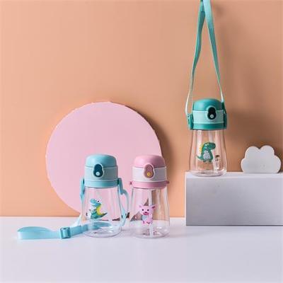 义乌好货儿童水壶卡通吸管杯带绳可以背宝宝水杯防摔防漏