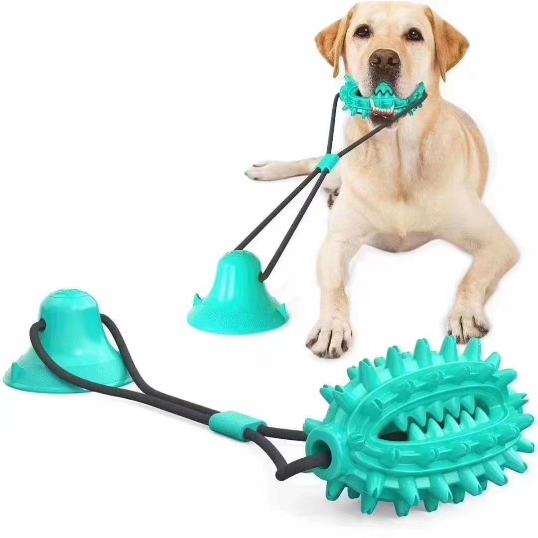 一款产品多种配置,仙人球狗牙刷,两端贯通,可以方便的搭配磨牙绳或者吸盘,组合成多种配置的狗狗玩具,防止跟卖!
