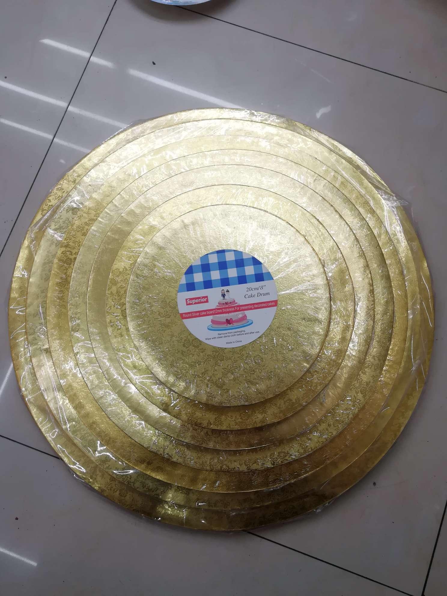 10寸金色包边圆形蛋糕底托蛋糕转移板12mm厚