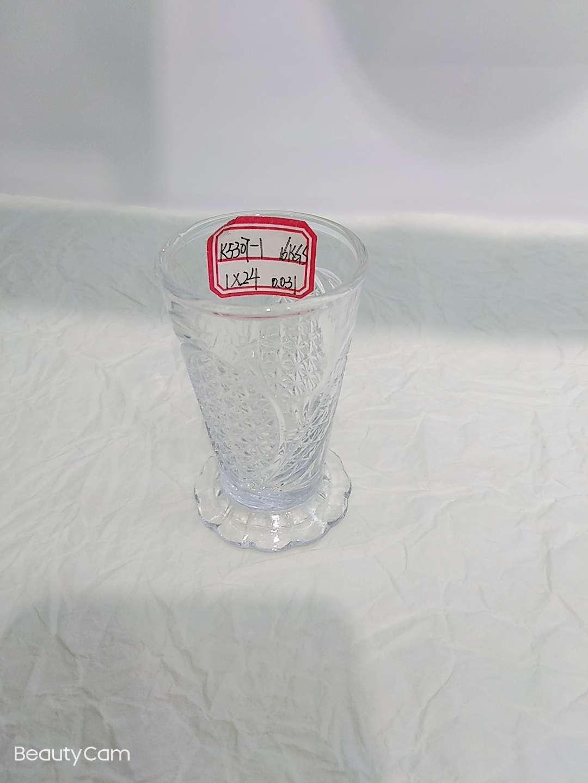 厂家直销刻花一口小酒杯k5307-1