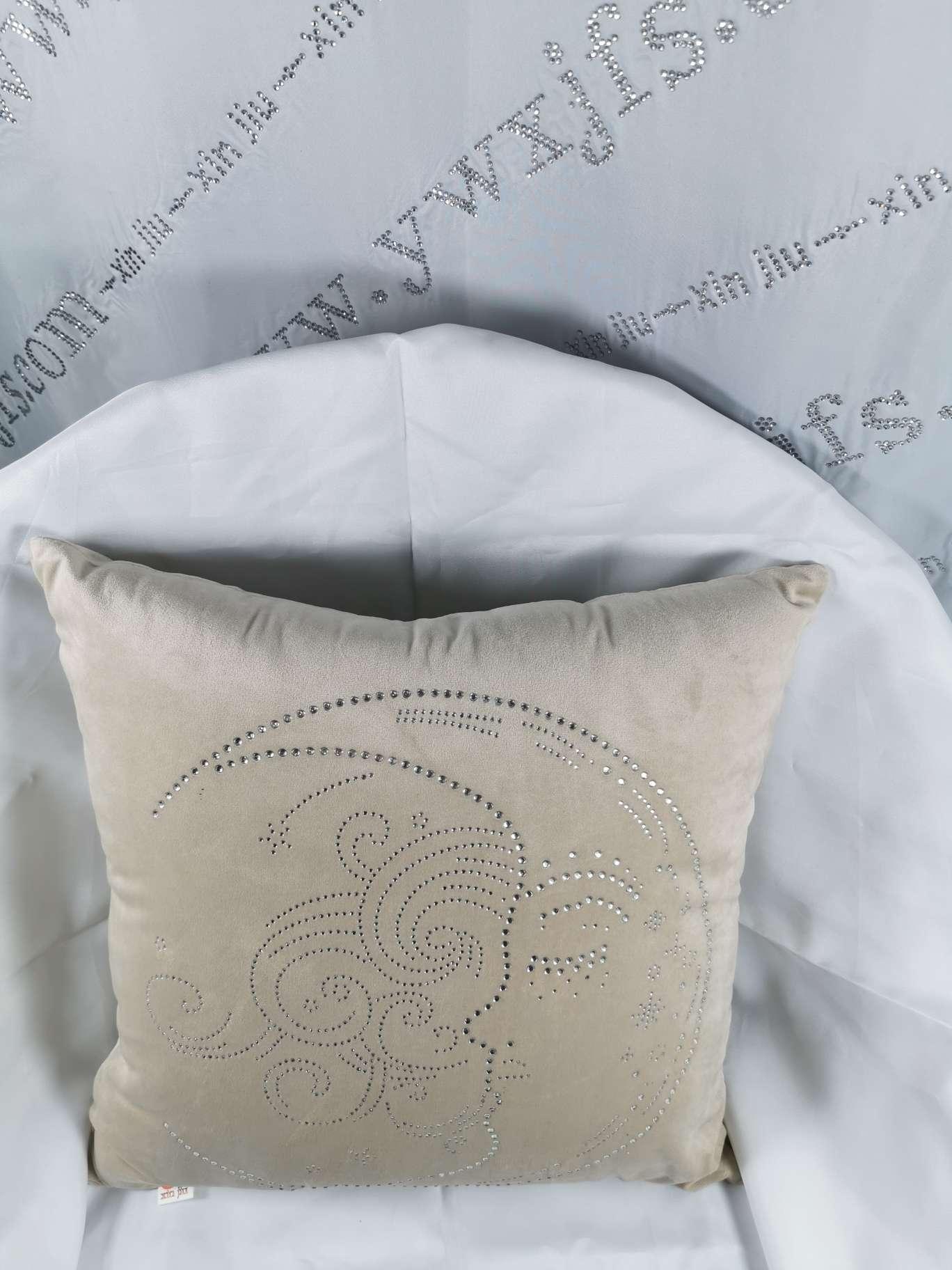 烫钻抱枕-抱枕烫钻55—钻石款简约月亮花