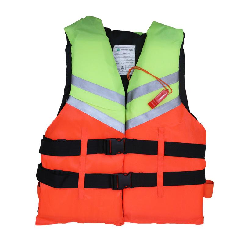 厂家直销专业防汛船用工作救生衣成人 双排扣反光游泳浮力背心