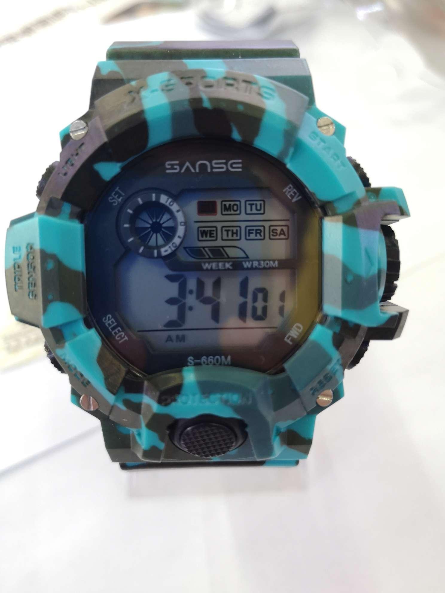 山斯SANSE潜水运动电子表系列660M型号全迷彩款