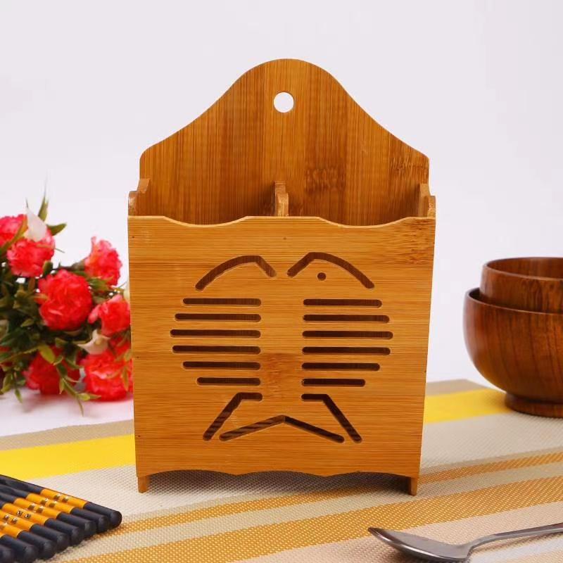 厂家直销竹制筷子筒楠竹筷笼双排筷子笼竹木筷子筒筷子架批发 。