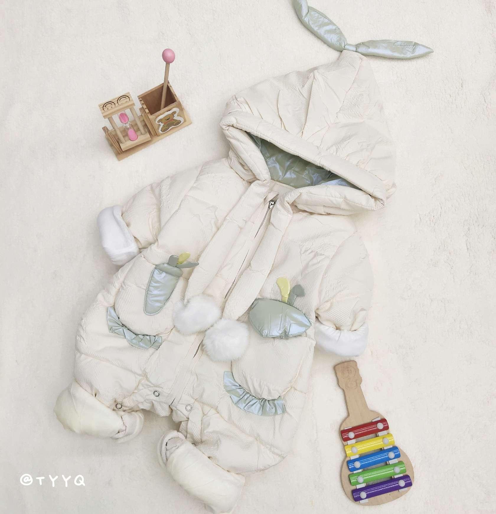 婴幼儿夹棉加厚连体爬服年服下单备注尺码或联系客服询问  73  80  90码3D印花