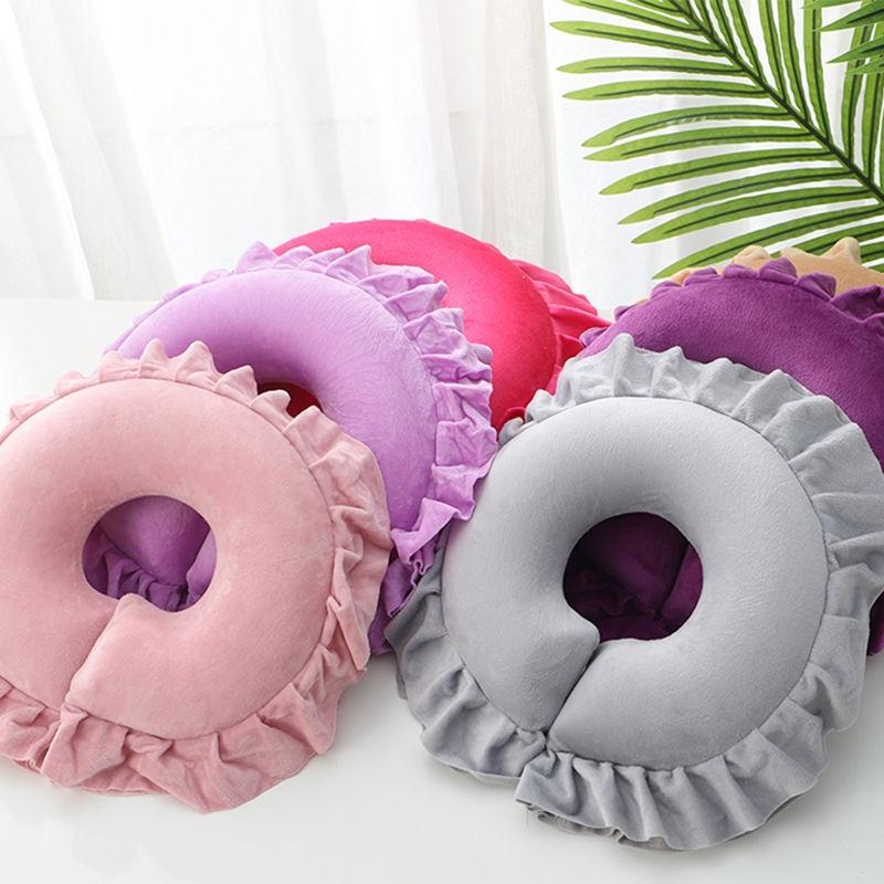美容床枕头按摩床洞脸垫按摩床头洞趴枕u型美容院用品乳胶美容枕