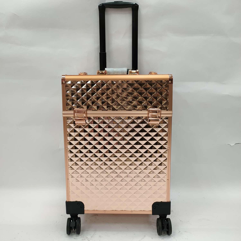 大号容量美容拉杆化妆箱专业跟妆师手提多功能多层纹绣美甲工具箱