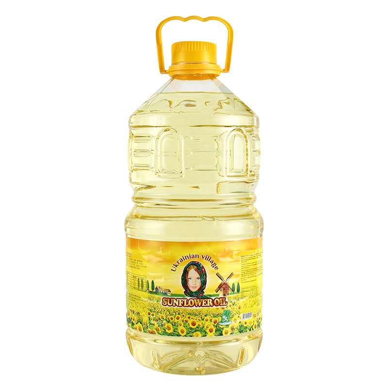 乌克乡村葵花籽油5L*3桶