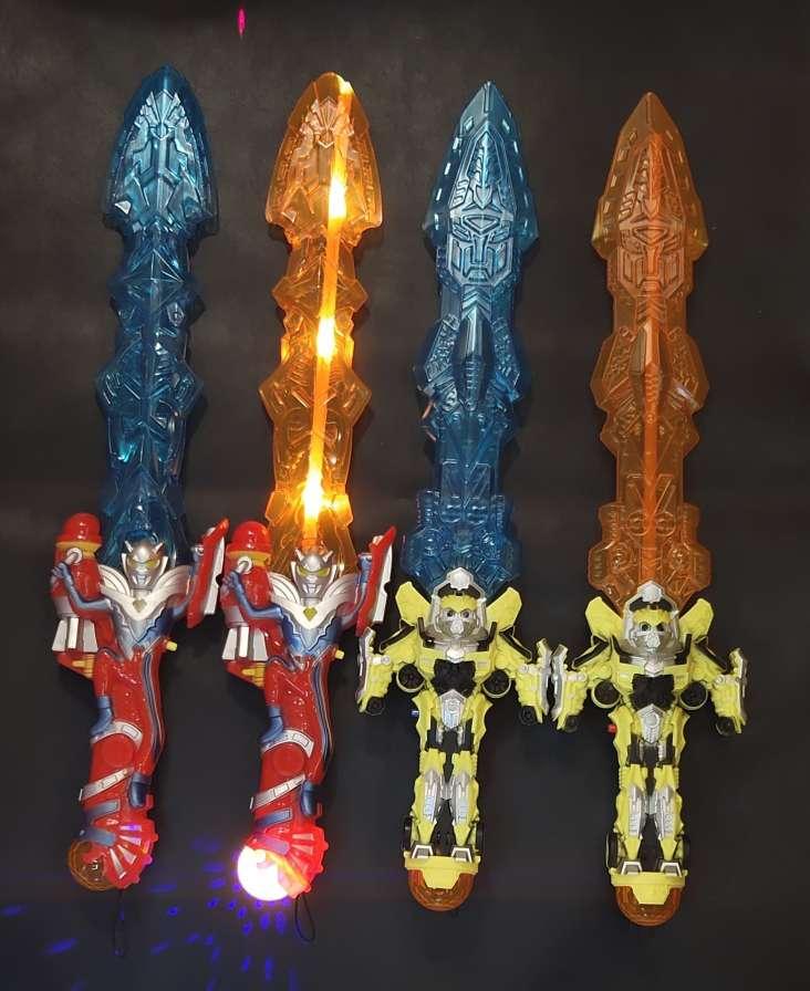 奥特曼大黄蜂手柄剑发声激光剑投影音乐剑