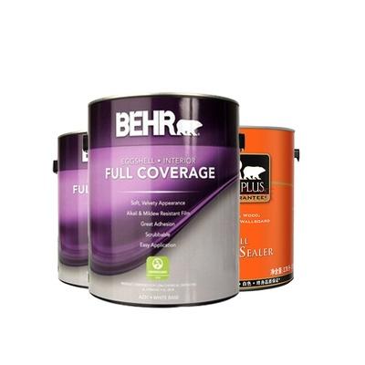 百白色熊清匀蛋壳光可调色美国原罐原装进口内墙涂料乳胶漆