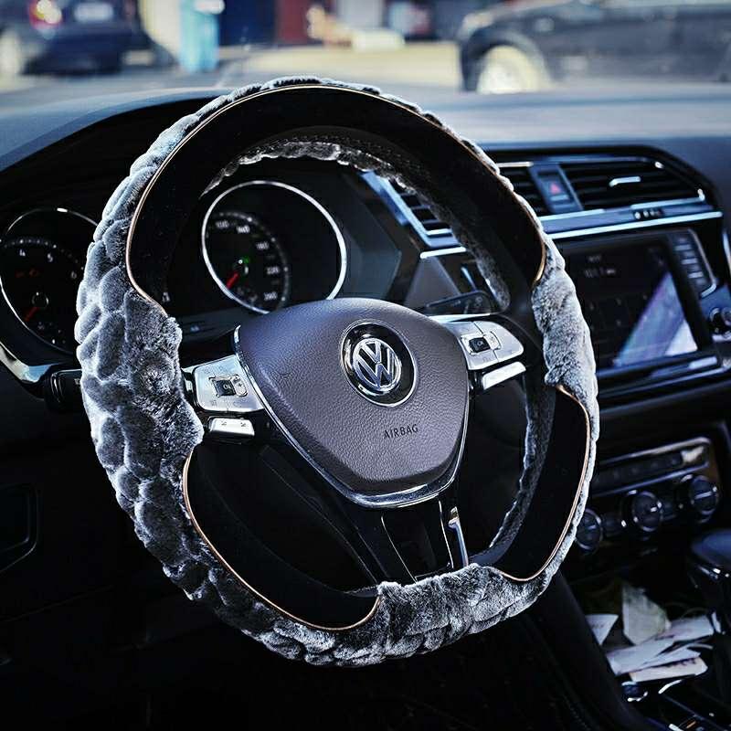 方向盘套冬季短毛绒汽车把套女大众速腾朗逸卡罗拉轩逸英朗思域h6