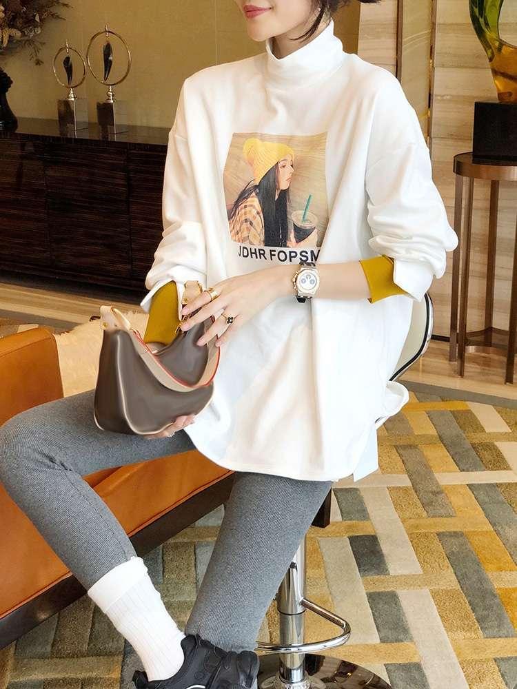 秋冬季加绒加厚卫衣女士2020年宽松韩版新款秋装百搭连帽外套女装