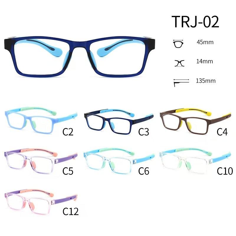 TRJ-02有现货硅胶TR超轻近视眼镜框架儿童小学生硅胶眼镜框斜视弱视远视散光矫正可配度数眼镜架