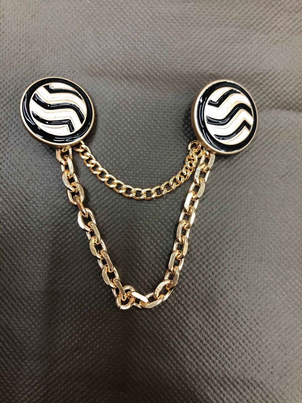衣领扣大衣扣风衣扣服装辅料装饰合金缝线扣链条扣装饰品