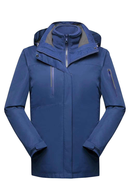 2020秋冬高端三件套加绒防风寒冲锋衣男款户外防水保暖风衣外套