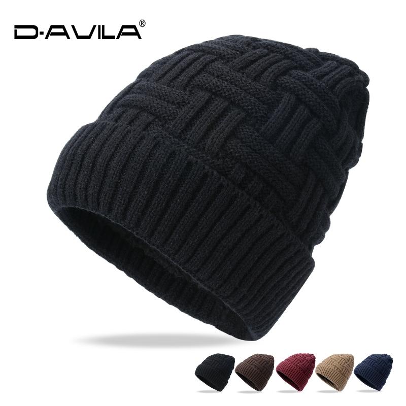 秋冬季男士加绒加厚毛线帽女韩版潮时尚针织帽套头帽情侣保暖帽子