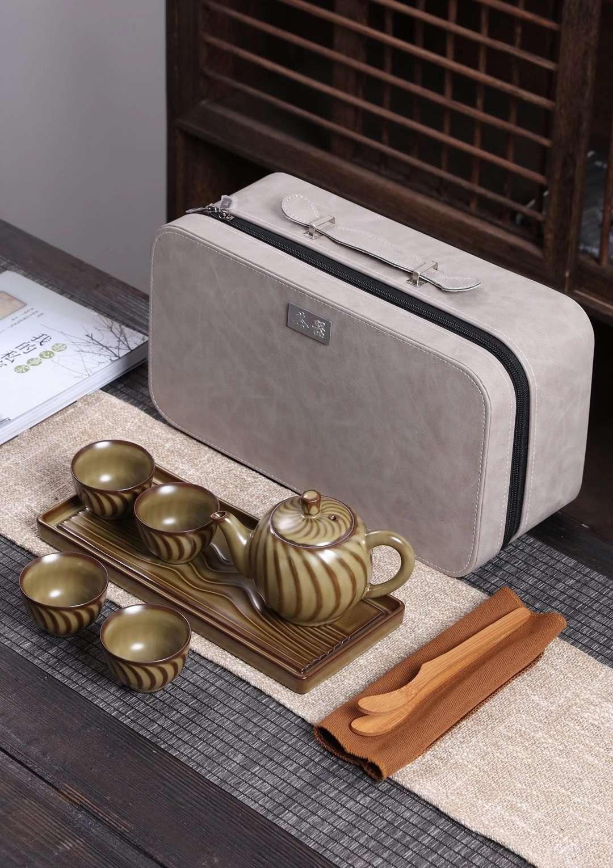 陶器旅行茶具
