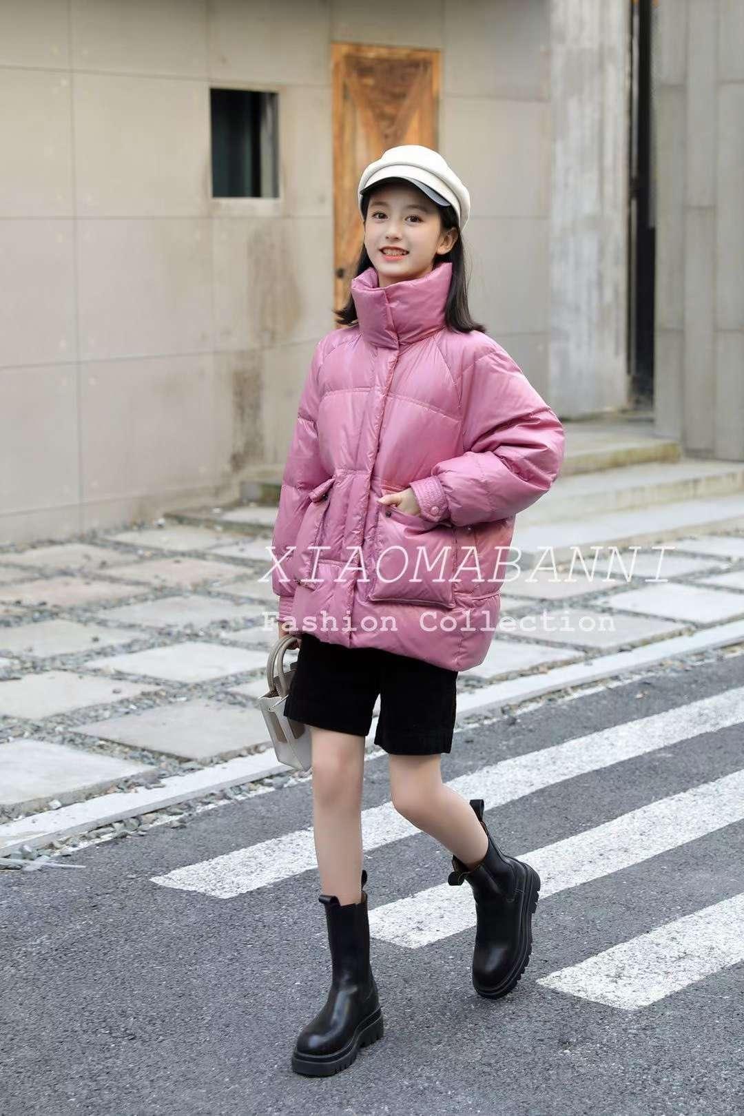 小马斑尼2020冬季女中大童新款棉衣外套