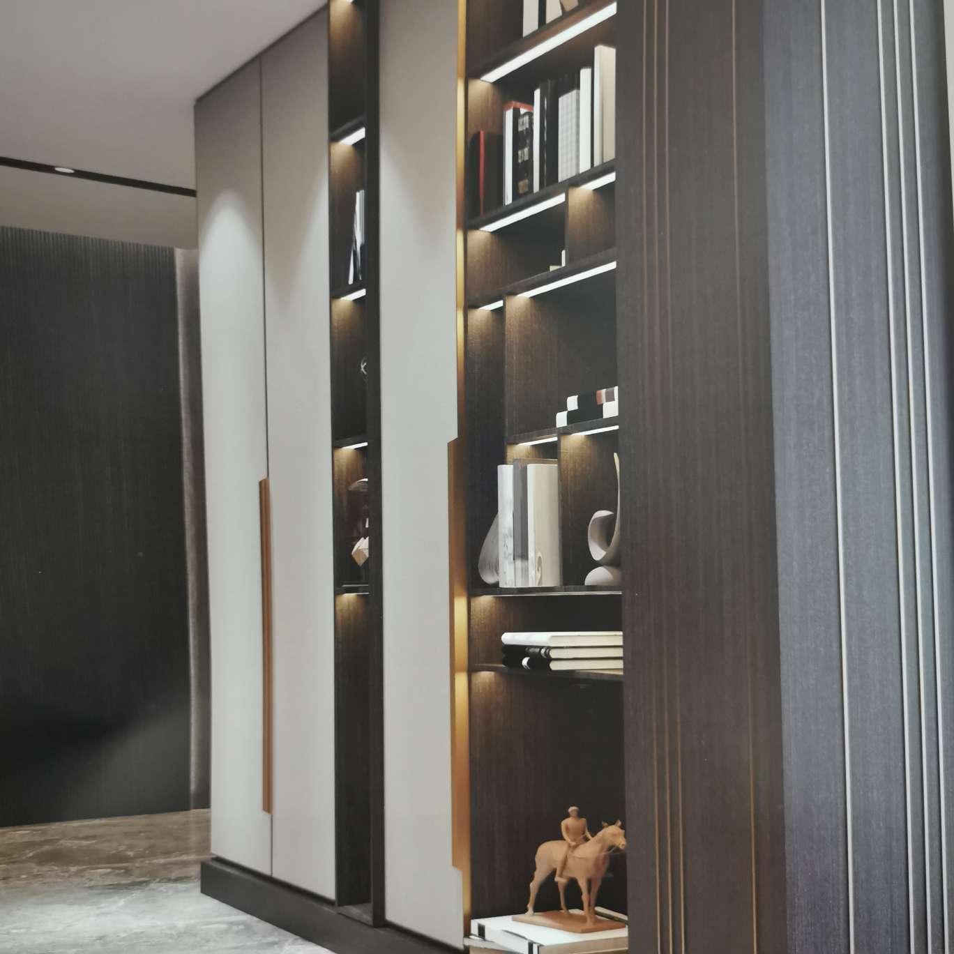 意式极简风装饰柜书柜