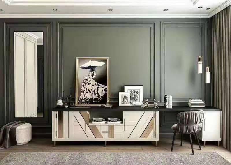 意德美嘉整体定制意式极简风大气木饰面客厅