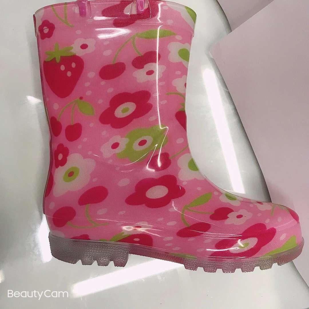 花朵童雨鞋