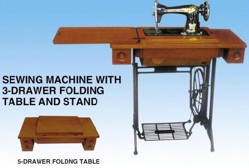 贝洋缝纫机老式缝纫机带桌子架子脚踏