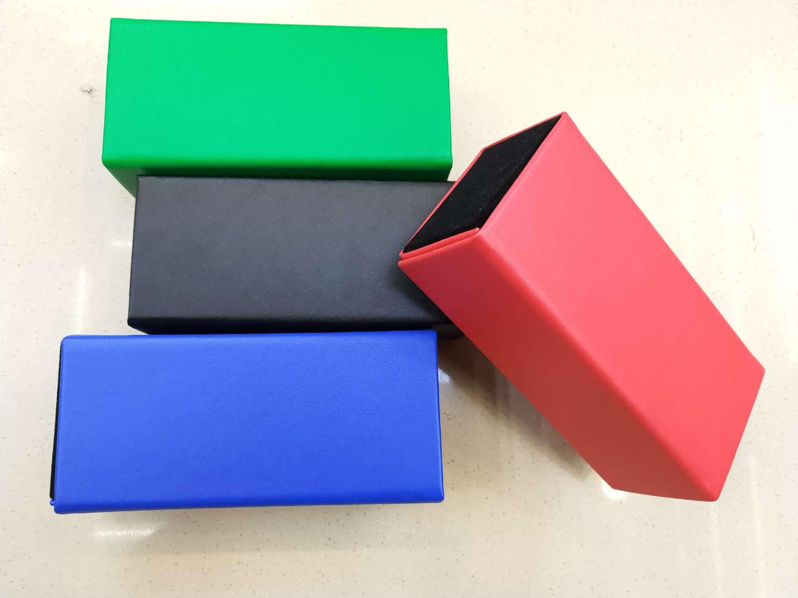 多色纹理手工折叠翻盖眼镜盒28