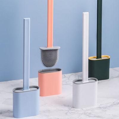 马桶刷子卫生间无死角多功能家用坐便清洁刷带底座洗厕所神器挂墙  沃