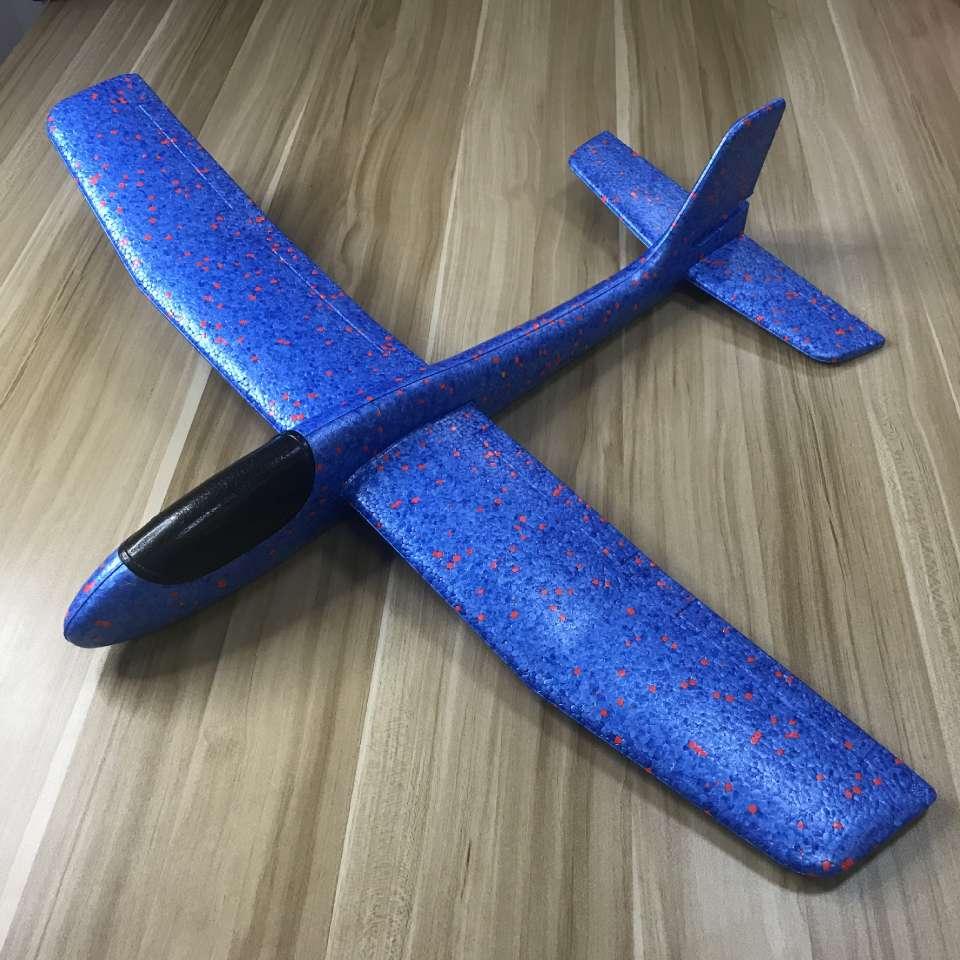 厂家直销EPP手抛泡沫大飞机 68CM改装DIY回旋特技航模儿童滑翔机