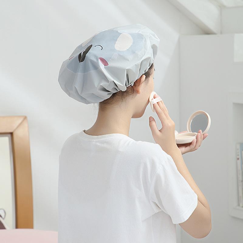 成人浴帽女防水加厚塑料成人沐浴帽洗澡头套家用长发淋浴帽