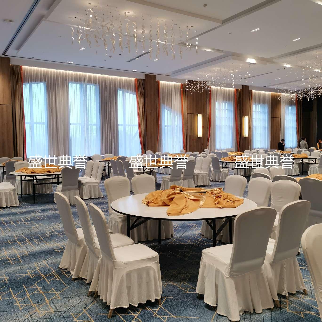 赣州星级酒店欧式婚宴酒席台布椅套定做宴会中心婚礼加厚弹力椅套
