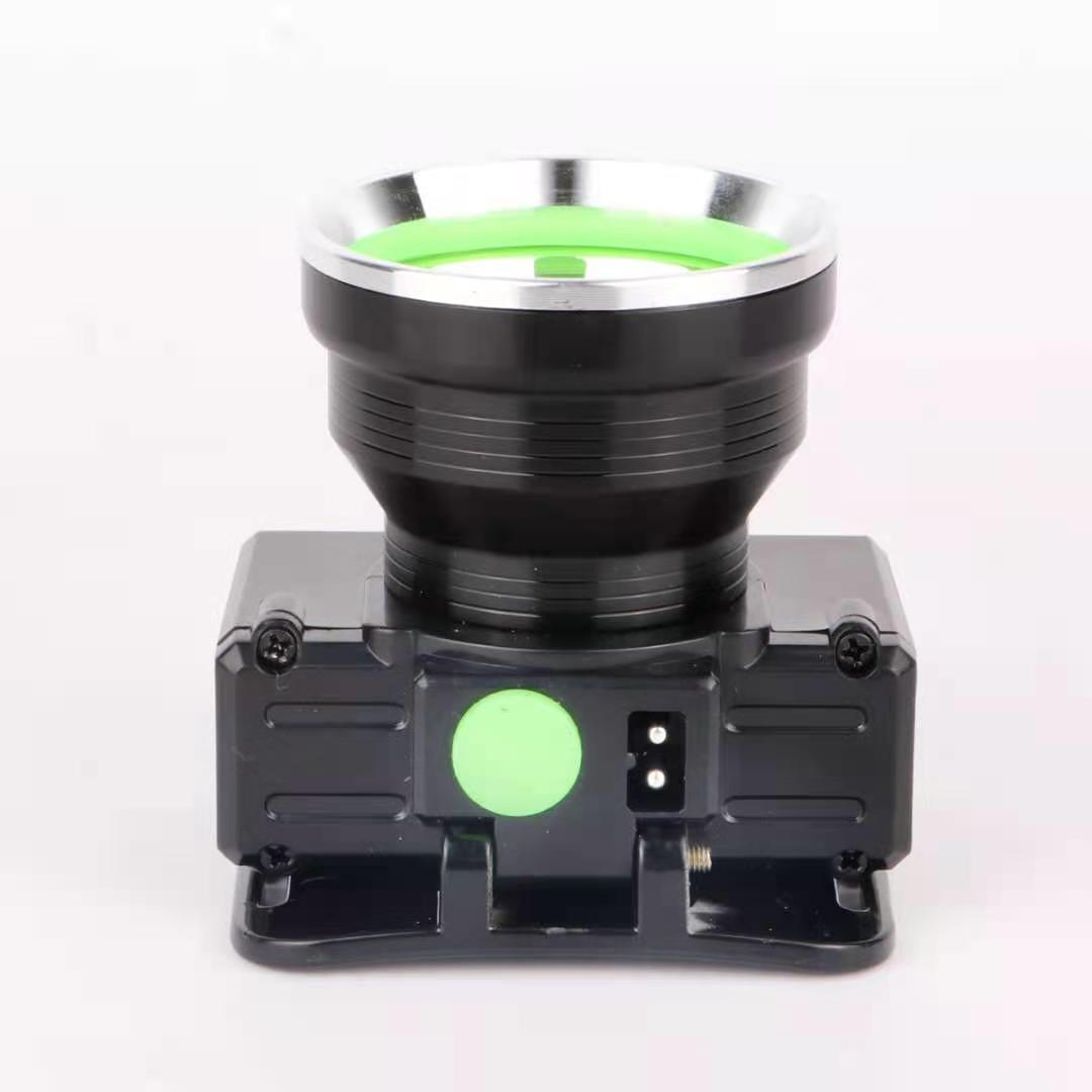 555 户外铝合金防水充电头灯大功率锂电池手电筒强光头灯LED头戴式钓鱼头灯