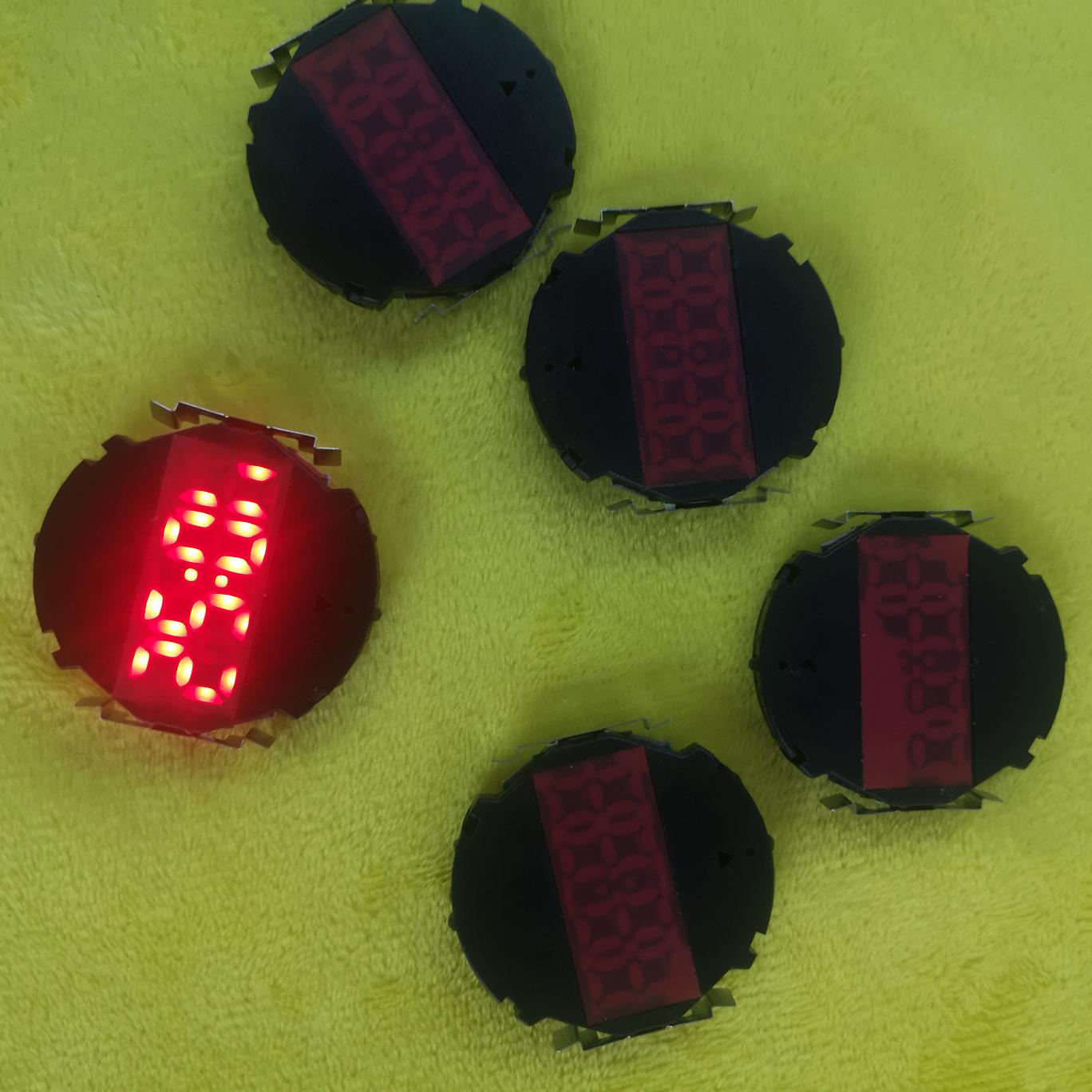 电子表机芯LED电子表机芯发光电子表机型发光配件