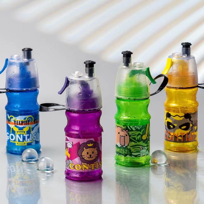 跨境电商爆款夏季喷雾杯卡通儿童水壶水杯运动杯