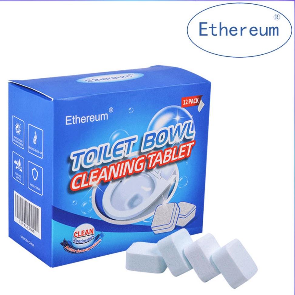 马桶清洁泡腾片12片洁厕去尿垢除异味马桶清洁剂