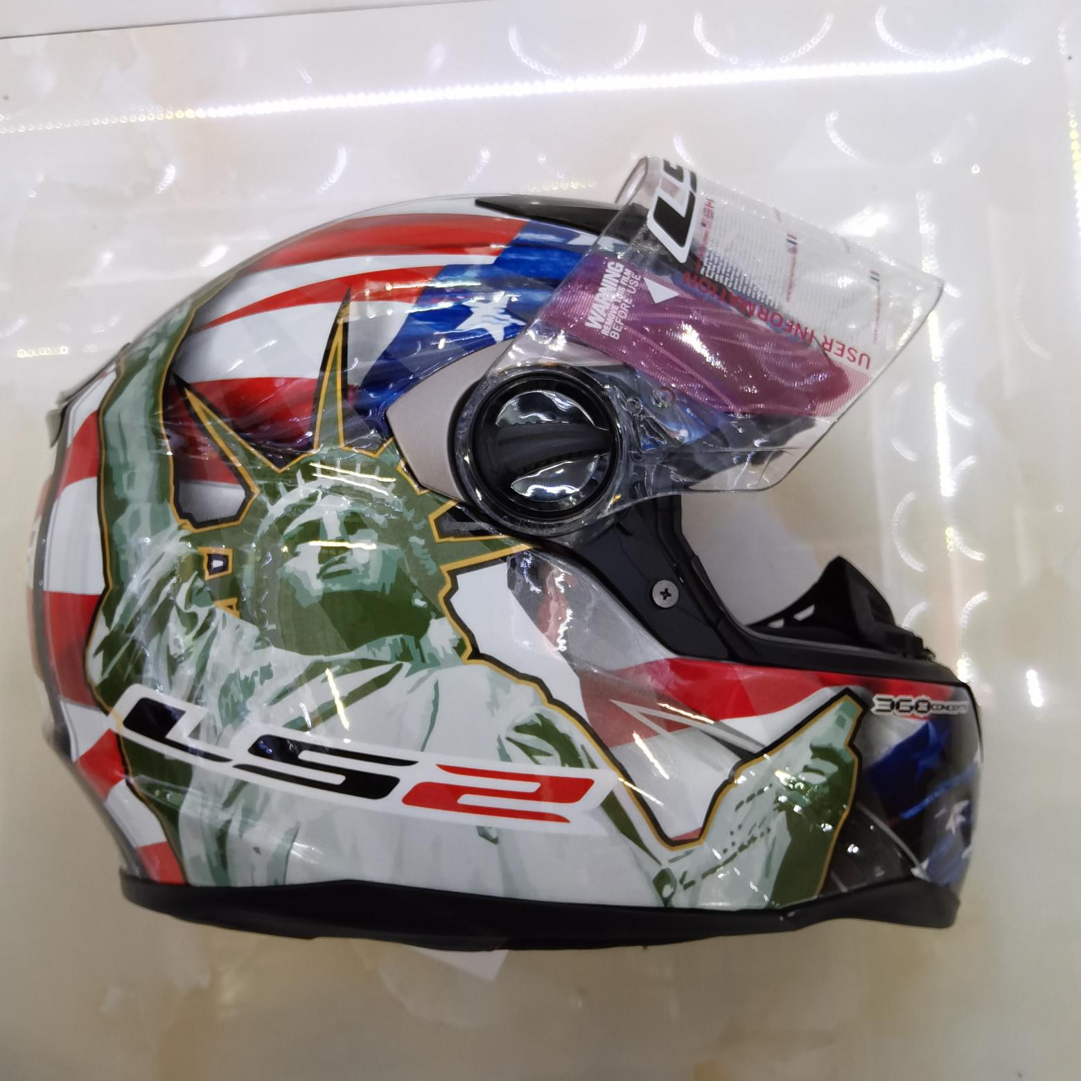 LS2品牌新款摩托车安全头盔机车电动车骑行专用头盔男女款跑盔防水透气轻便保暖四季款全覆式头盔